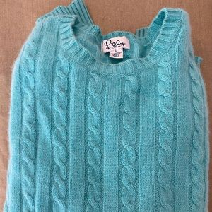 Lily Pulitzer cashmere cable knit sweater